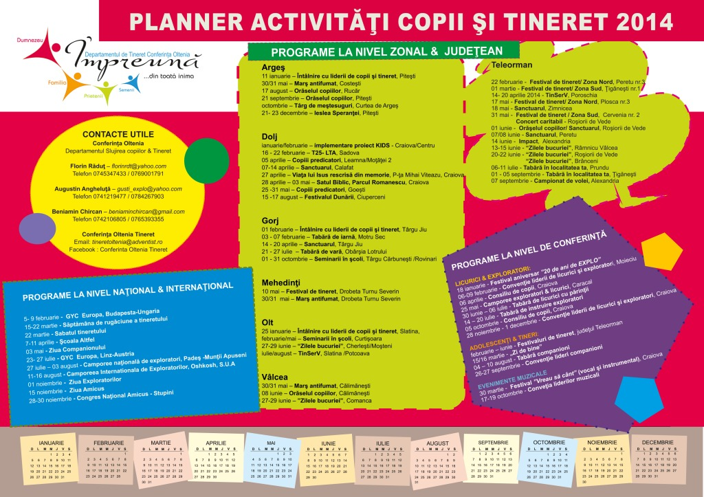 PLANNER TINERET OLTENIA 2014 a4