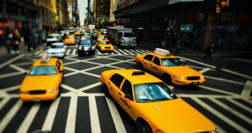 New York City Taxi Wide Desktop Background